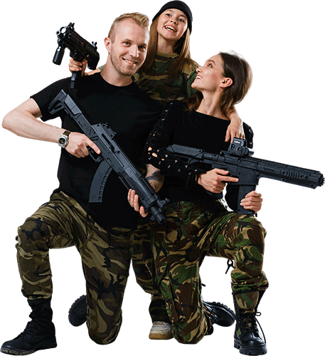 family-plays-lasertag